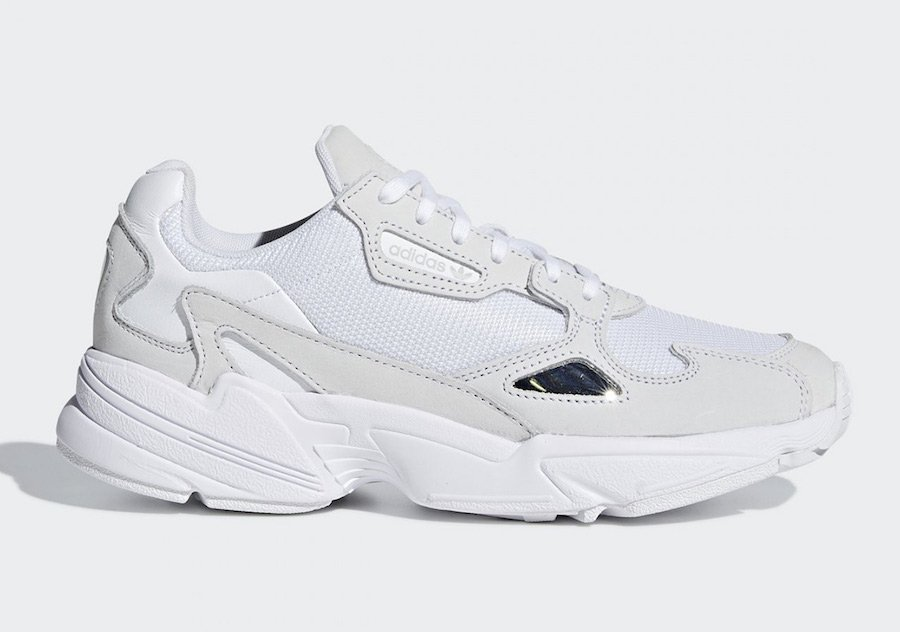 newest f3f19 0750d adidas Falcon Triple White B28128
