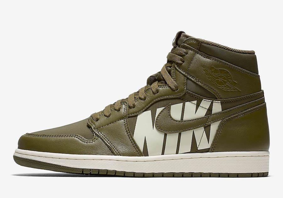 Air Jordan 1 High OG Olive Canvas 555088-300