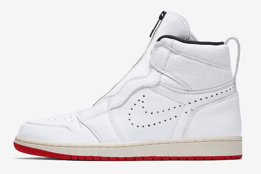 Air Jordan 1 High Zip White University Red Sail AR4833-100 Release Date