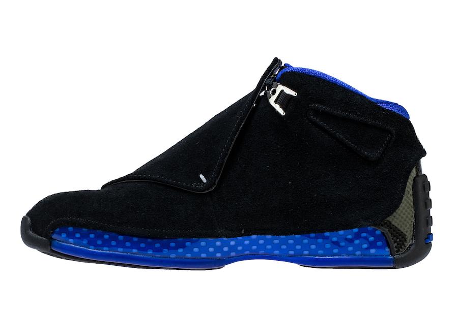 Air Jordan 18 Black Sport Royal AA2494-007