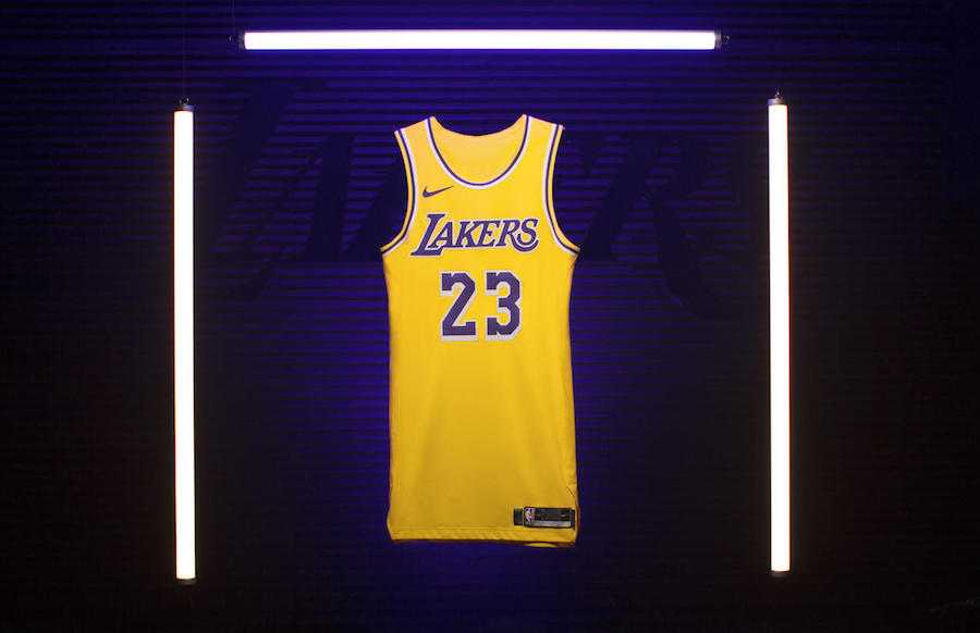 LeBron James Los Angeles Lakers Icon Swingman Jersey