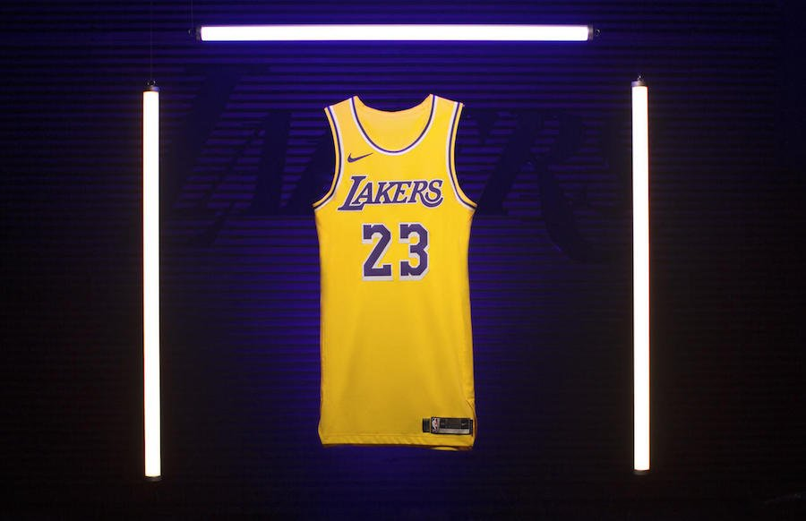 c527153c04c1 LeBron James Los Angeles Lakers Icon Swingman Jersey