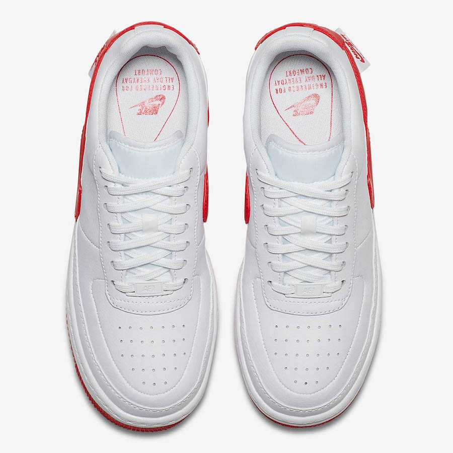 Nike Air Force 1 Jester White University Red AO1220-106  640e9a855