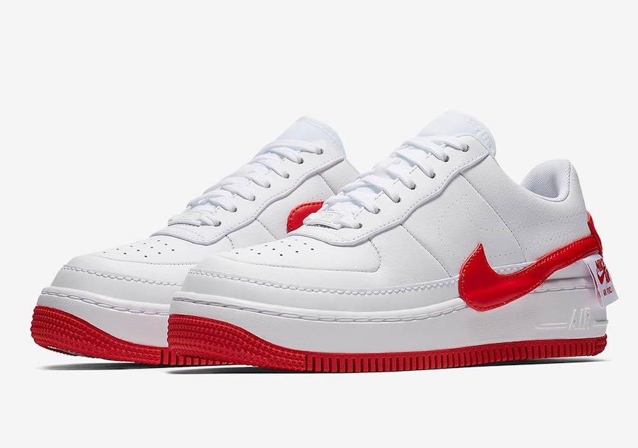 Nike Air Force 1 Jester White University Red AO1220-106