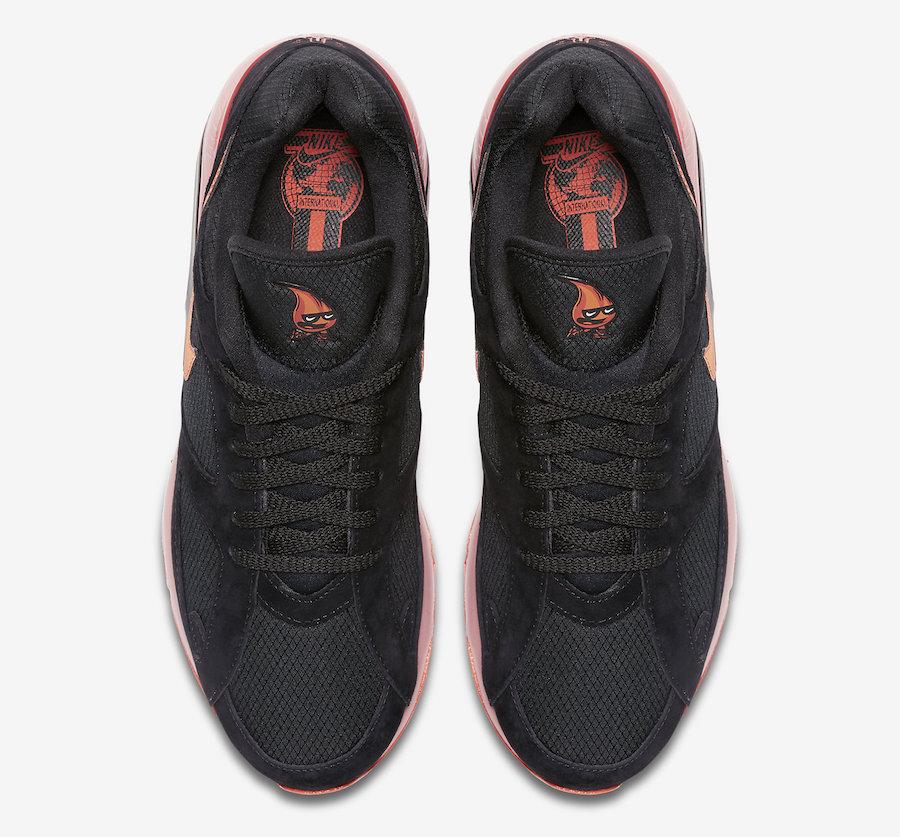 Nike Air Max 180 Black Team Orange University Red AV3734-001