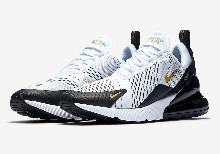 new products fa451 8507b Nike Air Max 270 White Black Gold AV7892-100 | SneakerFiles