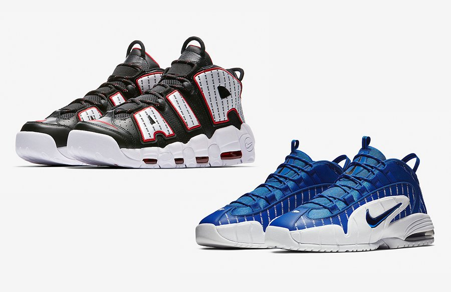 new product 67da3 b14cf Nike Air More Uptempo + Air Max Penny 1 Pinstripe Pack ...
