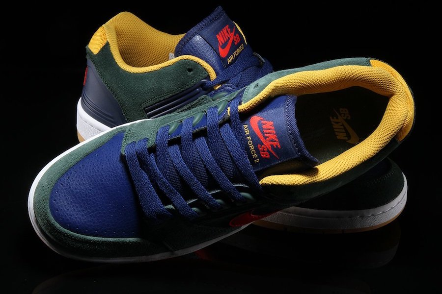 Nike SB Air Force 2 Low Midnight Green AO0300-364