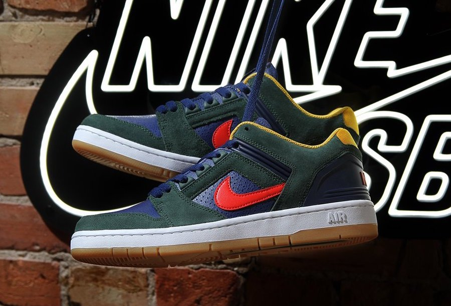 buy online 385a0 8281a Nike SB Air Force 2 Low Midnight Green AO0300-364
