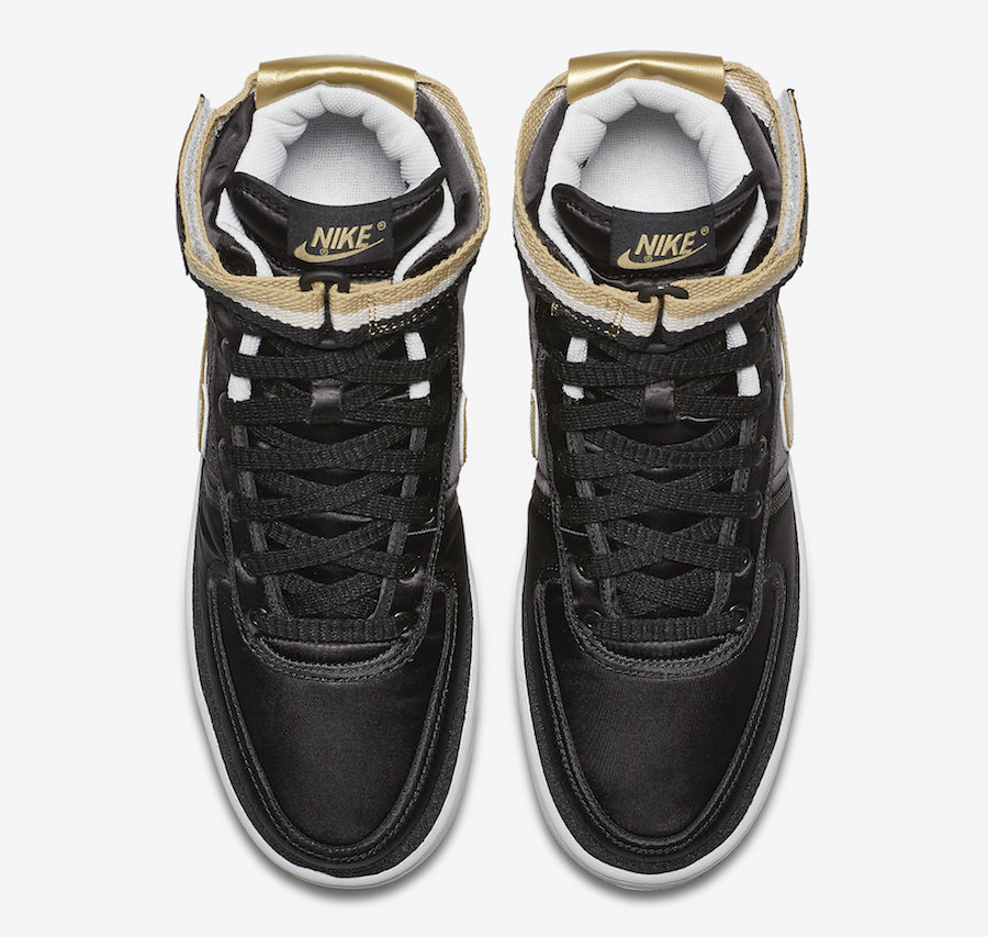 Nike Vandal High Supreme Black Metallic Gold AH8652-002