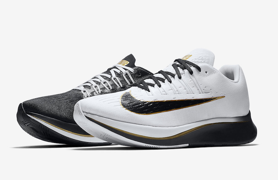 Nike Zoom Fly White Black Metallic Gold 880848-006