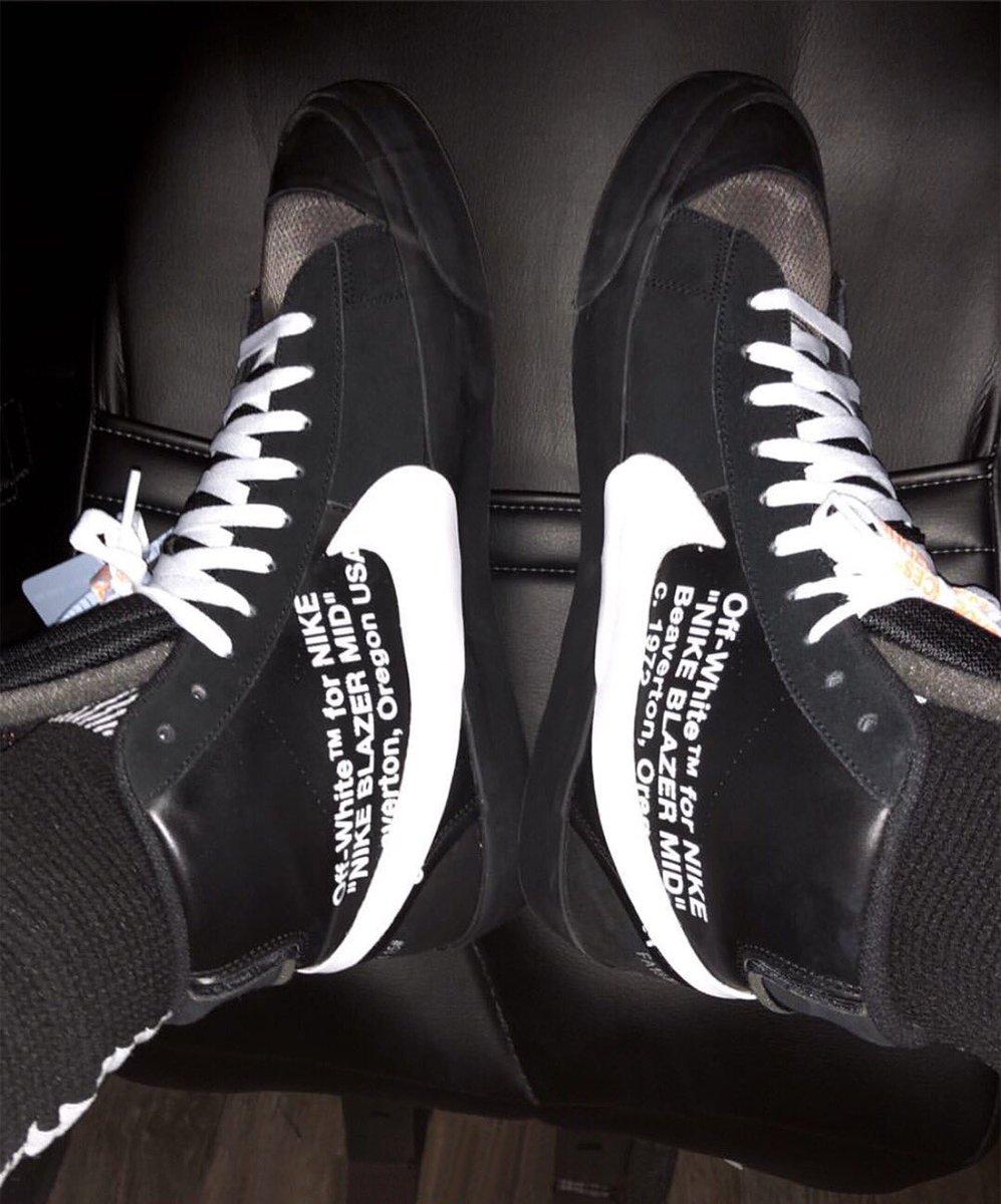 Off-White Nike Blazer Black White AA3832-001