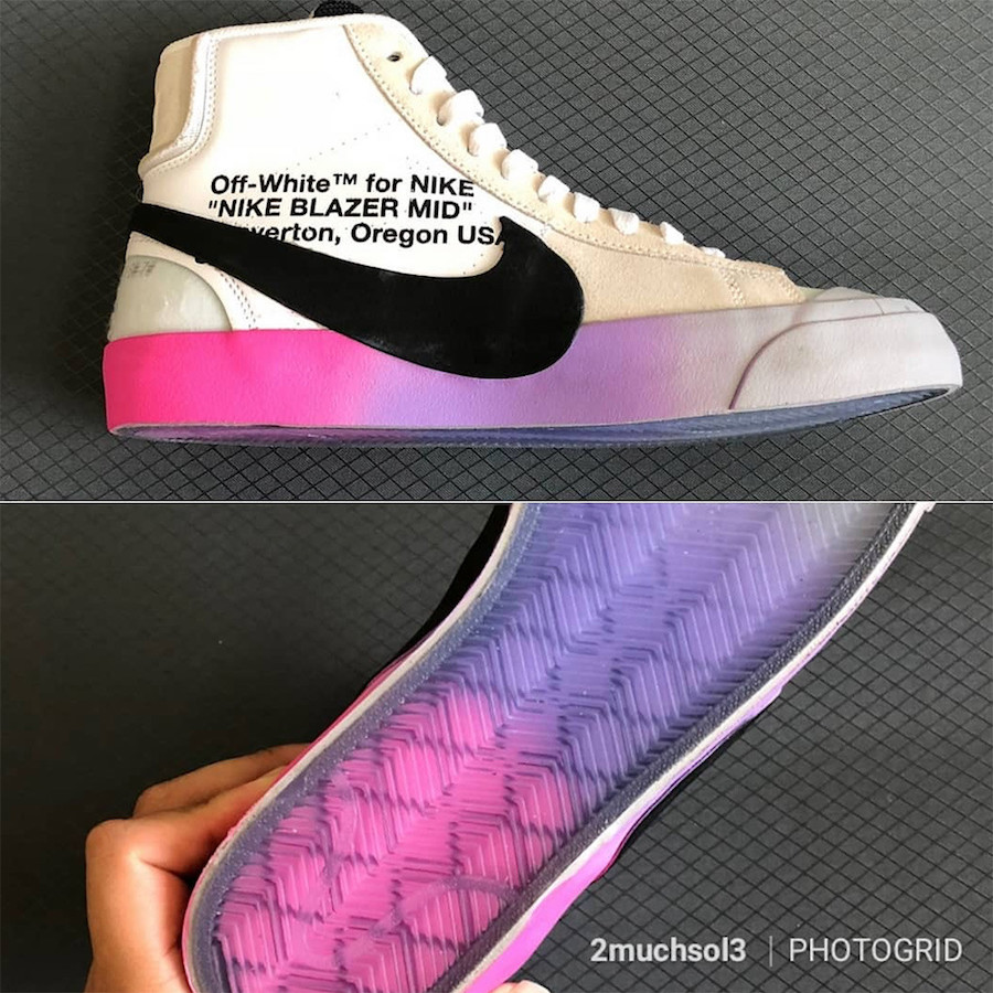Off-White Nike Blazer Mid Rainbow Soles