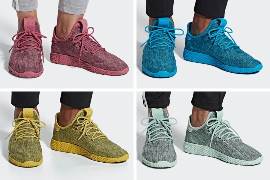 Pharrell adidas Tennis Hu Dip Dyed Pack