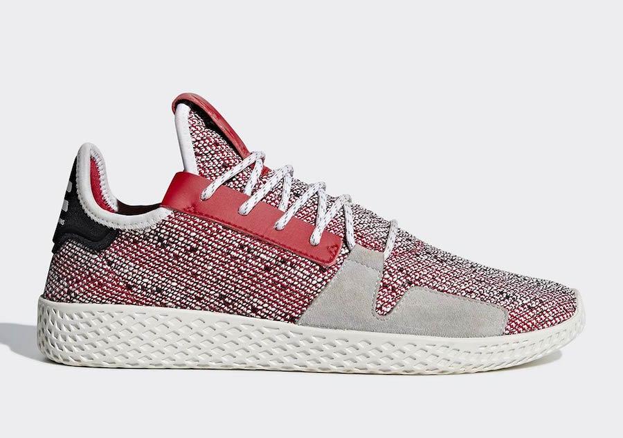 Pharrell adidas Tennis Hu V2 Red BB9542