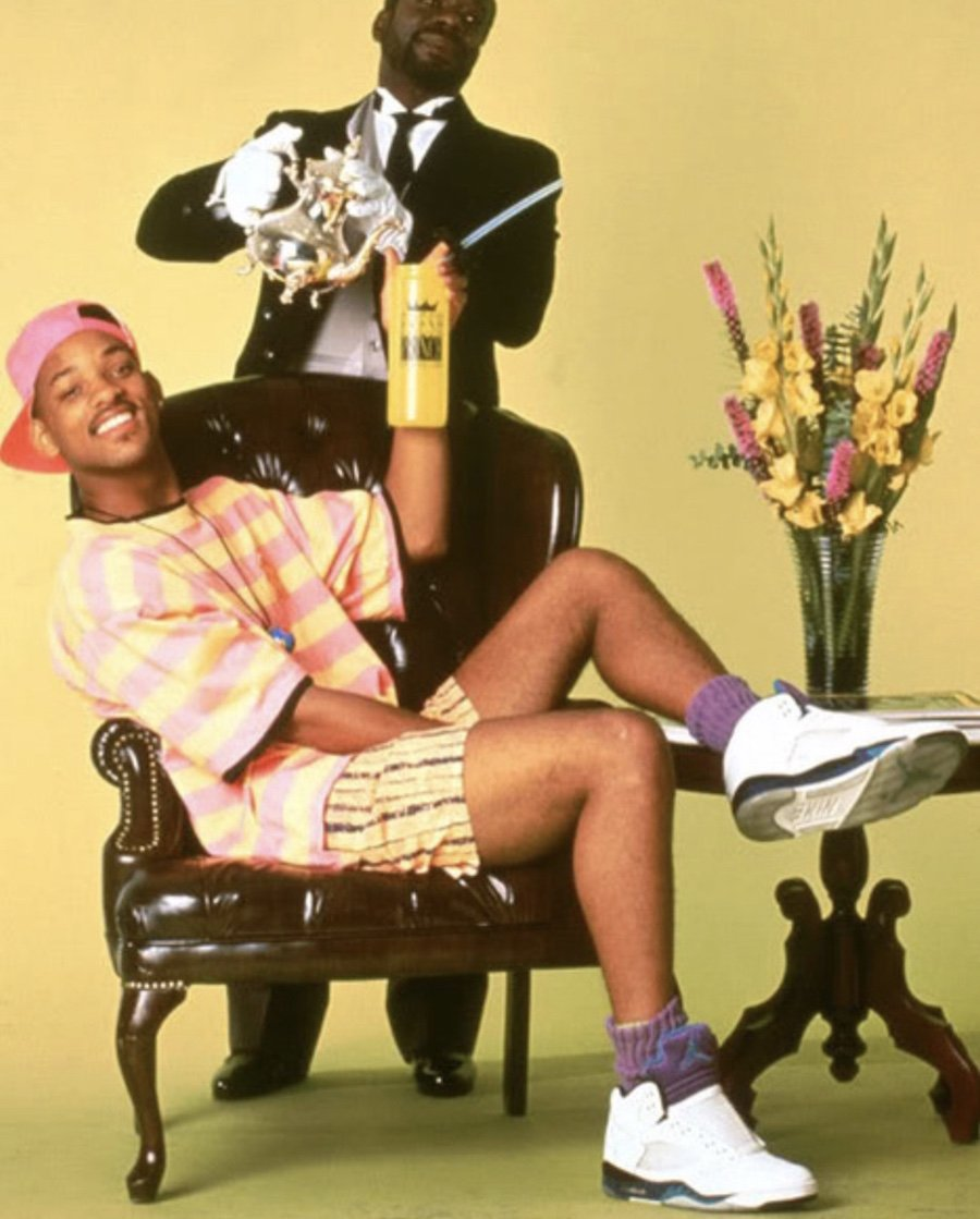 Will Smith Fresh Prince Air Jordan 5 Grape