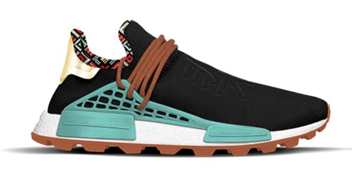 adidas NMD Hu Inspiration Pack Core Black Clear Blue Orange EE7582