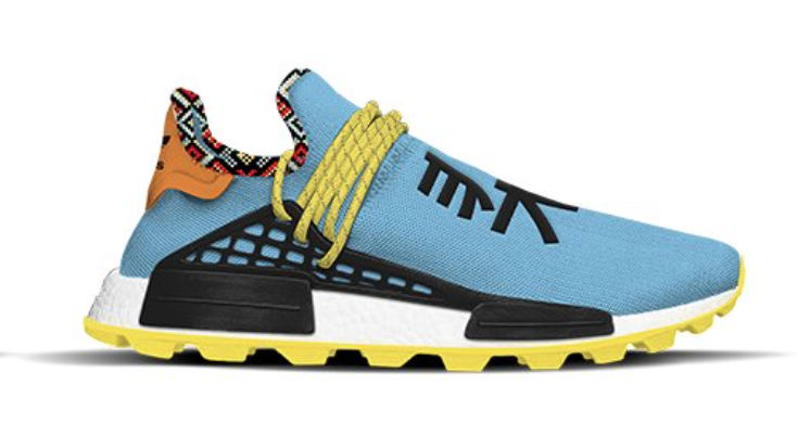 adidas NMD Hu Inspiration Pack Clear Sky Core Black Bold Orange EE7581