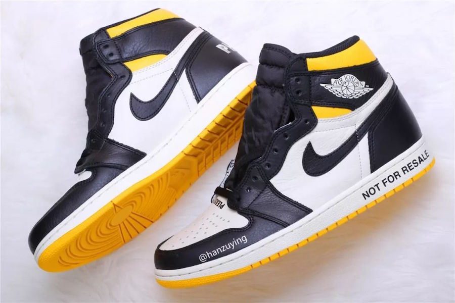 Air Jordan 1 NRG No Ls Varsity Maize 861428-107 Release Date