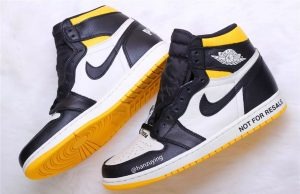 Air Jordan 1 NRG No Ls Varsity Maize 861428-107 Release Date
