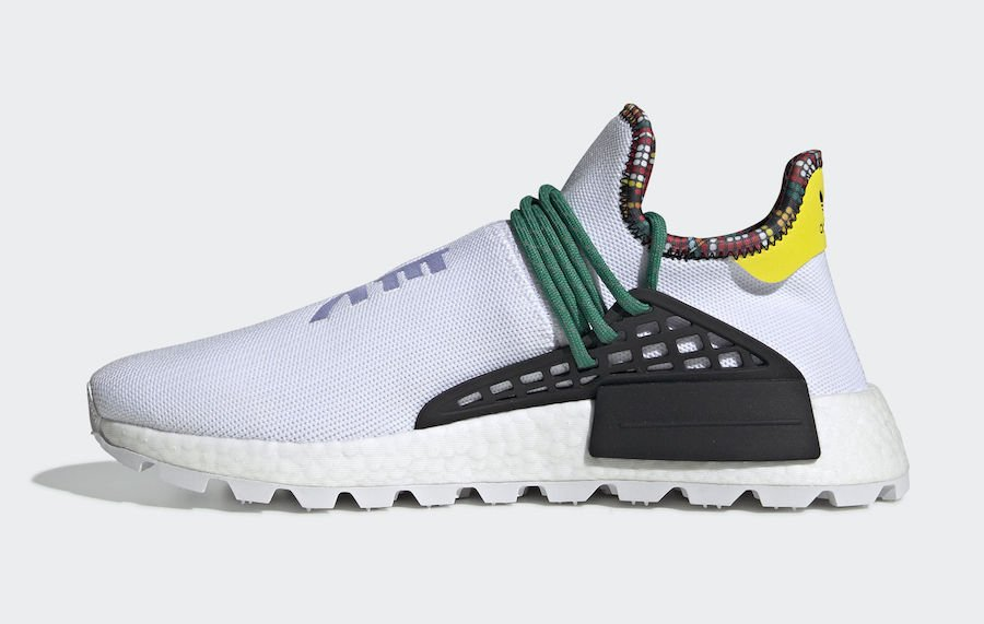 9a5fa3cfd Pharrell adidas NMD Hu White EE7583 Inspiration Pack Release Date