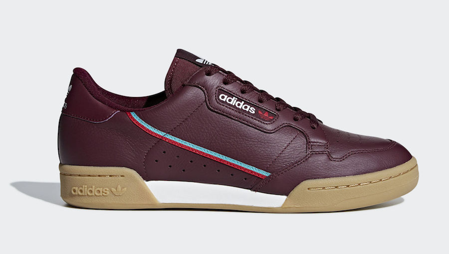 adidas Continental 80 maroon B41677 Release Date