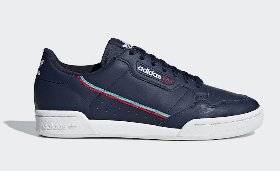 adidas Continental 80 Navy Scarlet B41670 Release Date