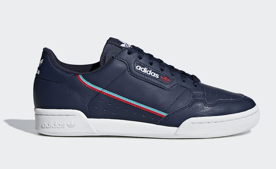02227c999074be adidas Continental 80 Navy Scarlet B41670 Release Date