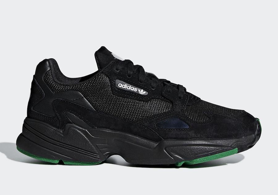 adidas Falcon Core Black Green F97483
