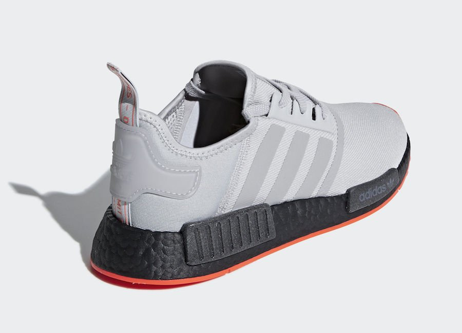 2f140c67c adidas NMD R1 Grey Solar Red F35882 Release Date