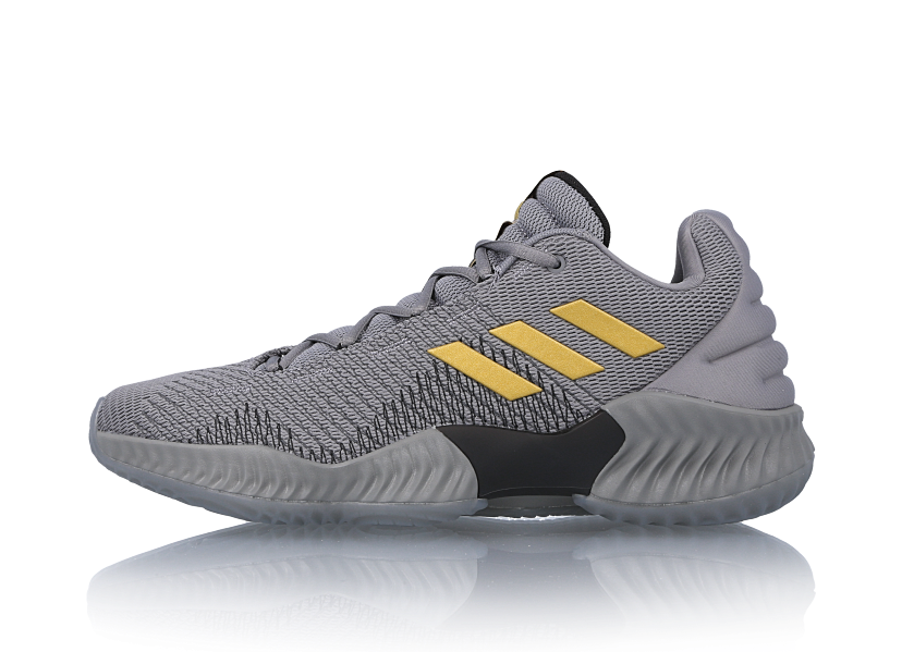 Adidas Pro Bounce Low 2018 Grey Gold Ah2683 Sneakerfiles