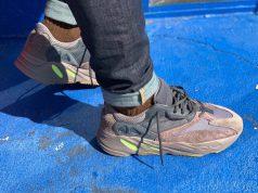 adidas Yeezy Boost 700 Mauve On Feet