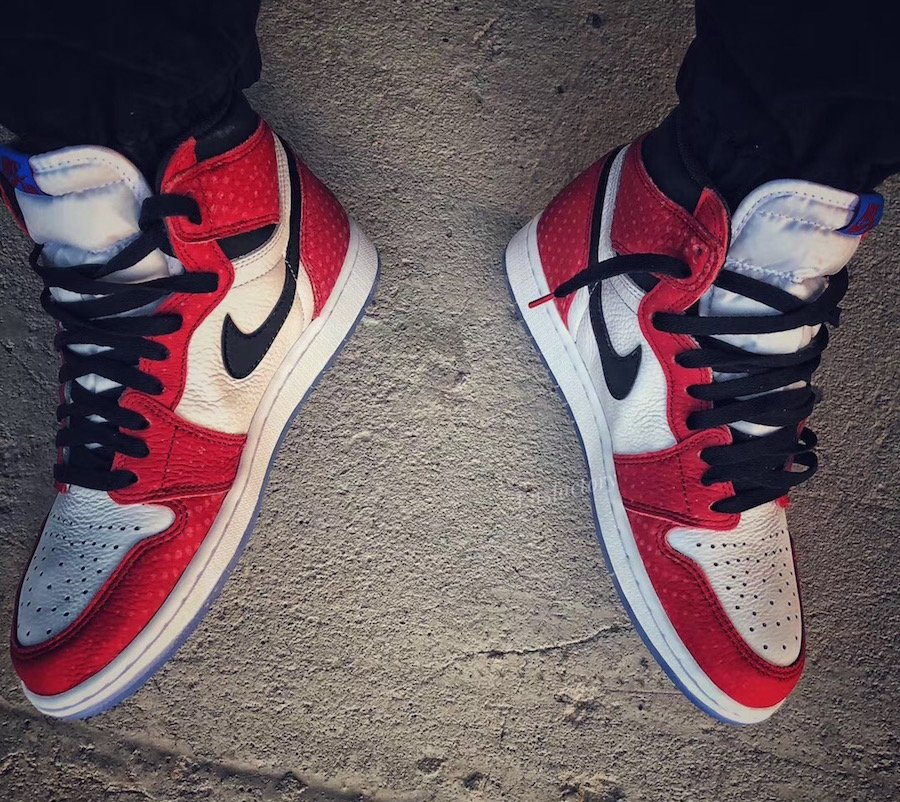 Air Jordan 1 Chicago Crystal Clear Sole On Feet