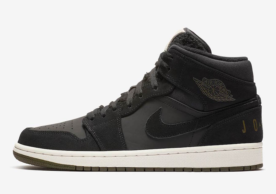 Air Jordan 1 Mid Fleece Pack Black Release Date