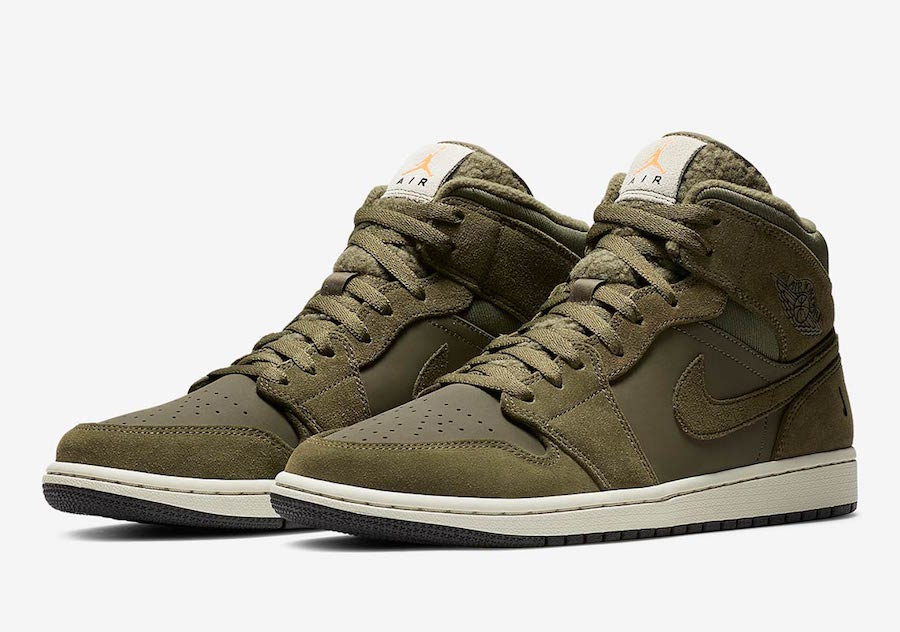 Air Jordan 1 Mid Fleece Pack Olive Release Date