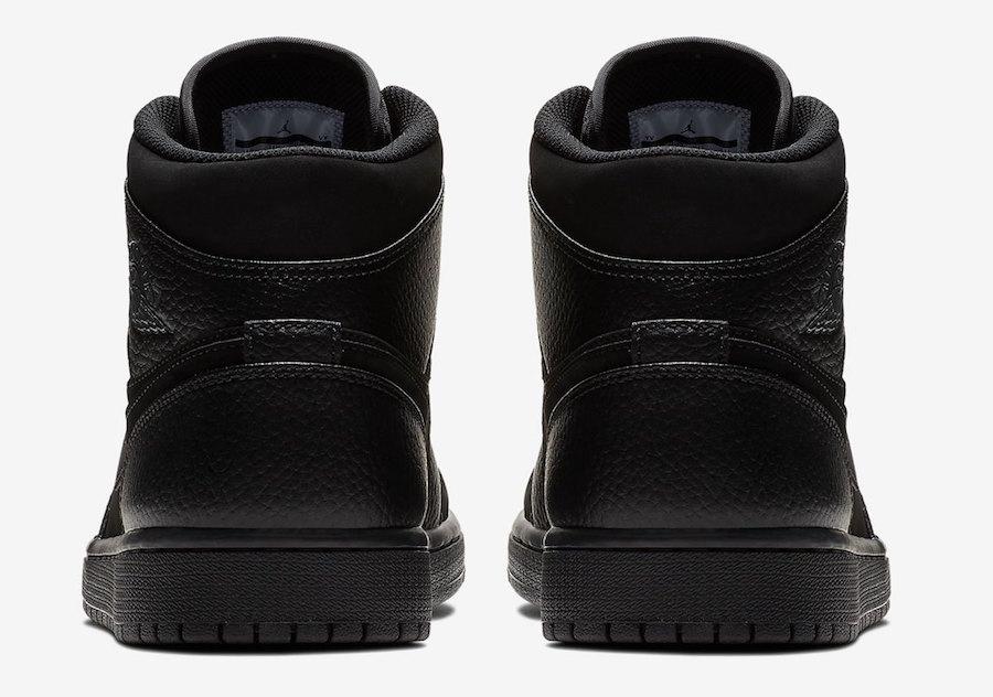 Air Jordan 1 Mid Triple Black 554724-064
