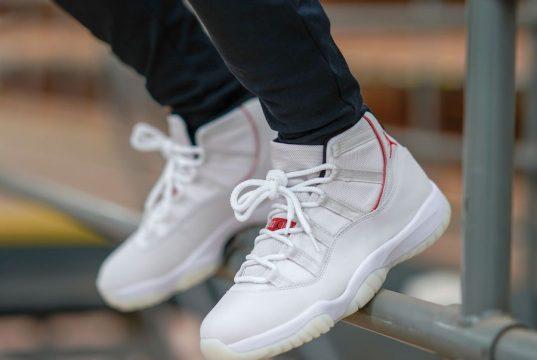 Air Jordan 11 Platinum Tint On Feet