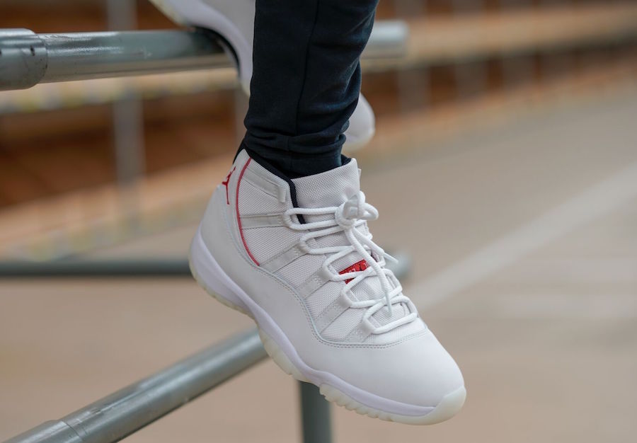 Air Jordan 11 Platinum Tint On Feet