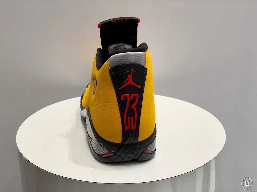 Air Jordan 14 Reverse Ferrari University Gold Black University Red BQ3685-706 Release Date
