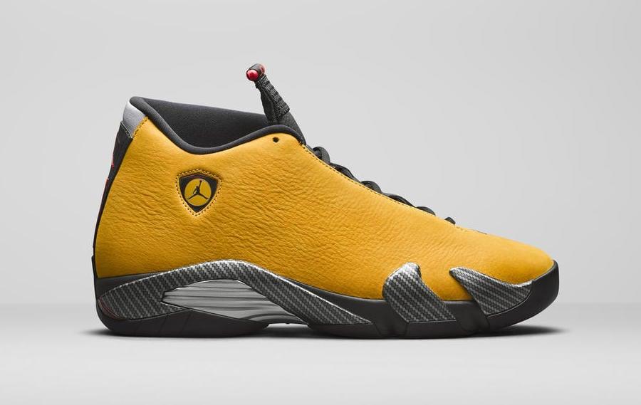 new style 8c32b ec566 Air Jordan 14 Yellow Ferrari BQ3685-706 Release Date