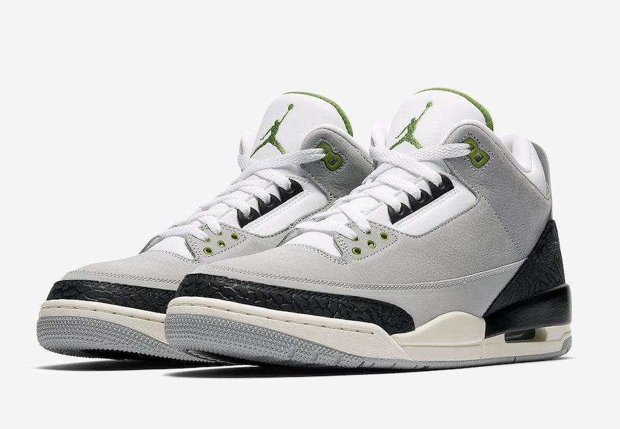 Air Jordan 3 Tinker Chlorophyll 136064-006 Release Date
