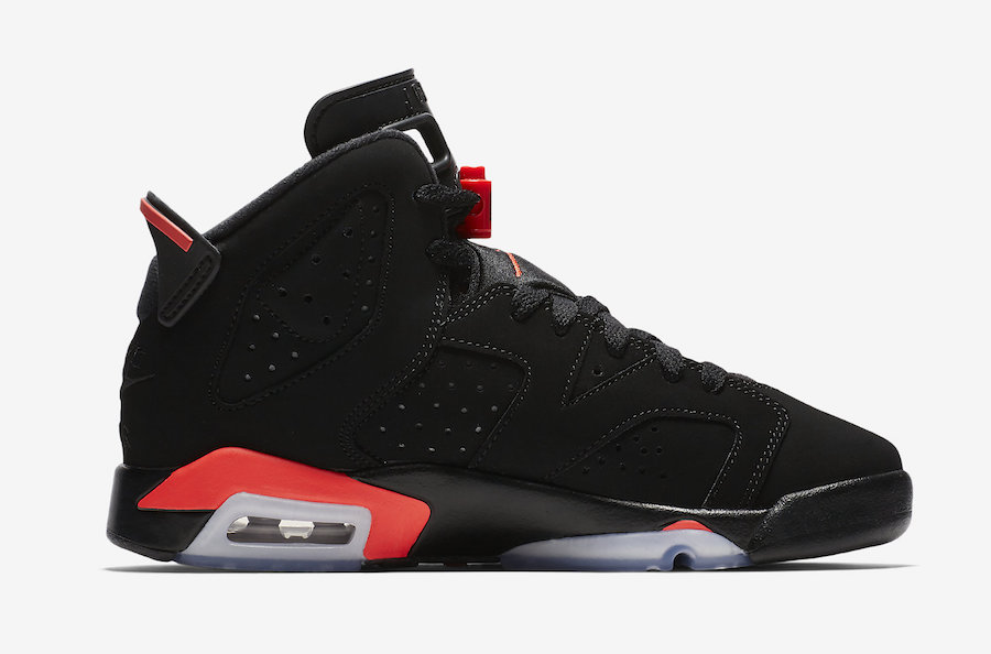 Air Jordan 6 Black Infrared GS Grade School Kids 384665-060 Release Date