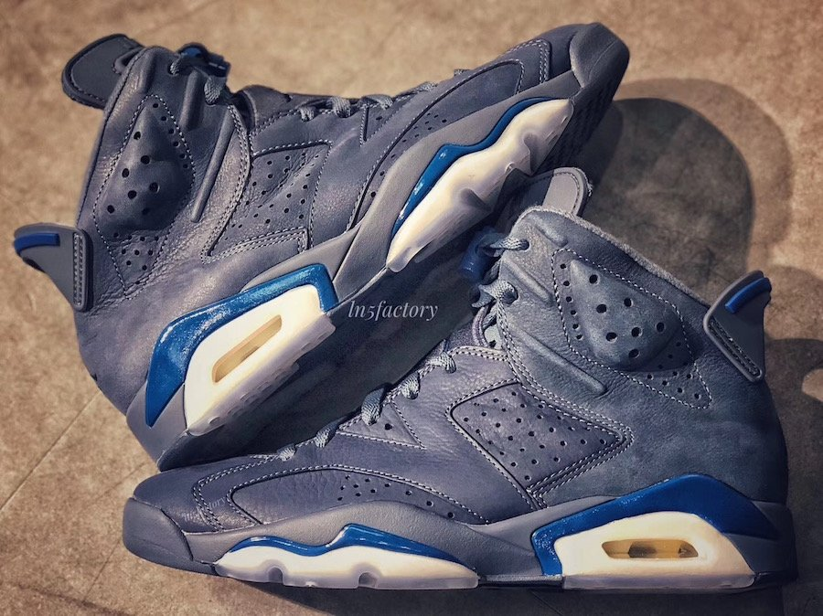 Air Jordan 6 Jimmy Butler 384664-400 Diffused Blue Court Blue