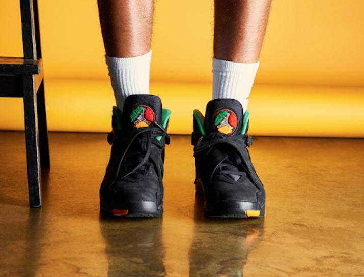 Air Jordan 8 Air Raid Tinker On Feet