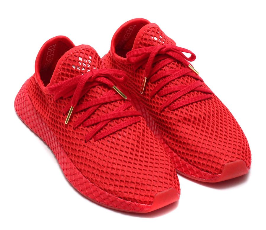 atmos x adidas Deerupt Trainers (Red) G27330