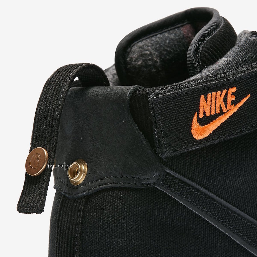 Carhartt WIP Nike Vandal High Supreme Black Gum