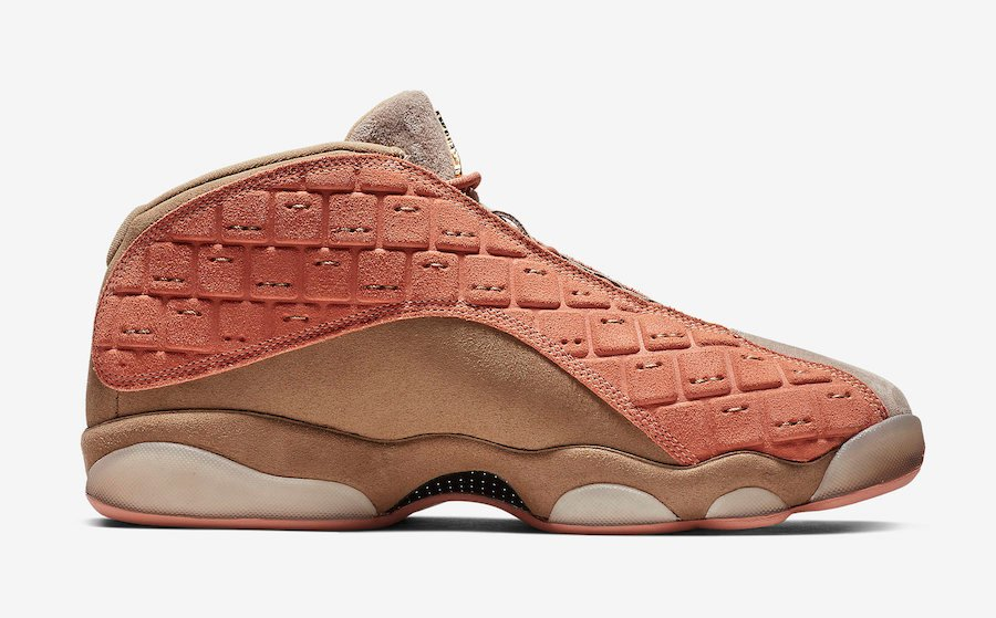 Clot Air Jordan 13 Low Sepia Stone Canteen Terra Blush AT3102-200