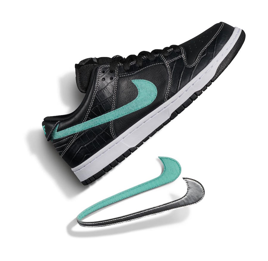 Diamond Supply Co Nike SB Dunk Low Black Diamond Release Date