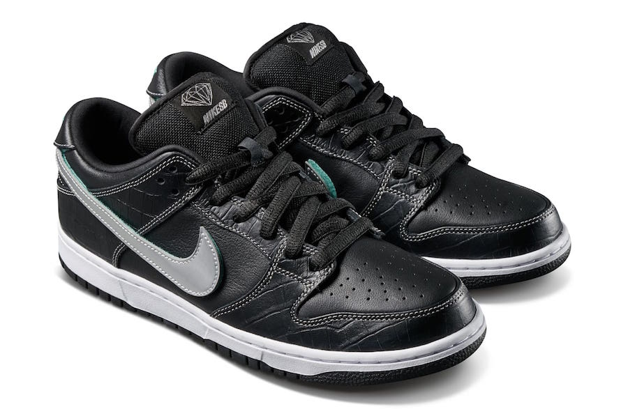 6fa28bb2bd4a Diamond Supply Co Nike SB Dunk Low Black Diamond Release Date ...