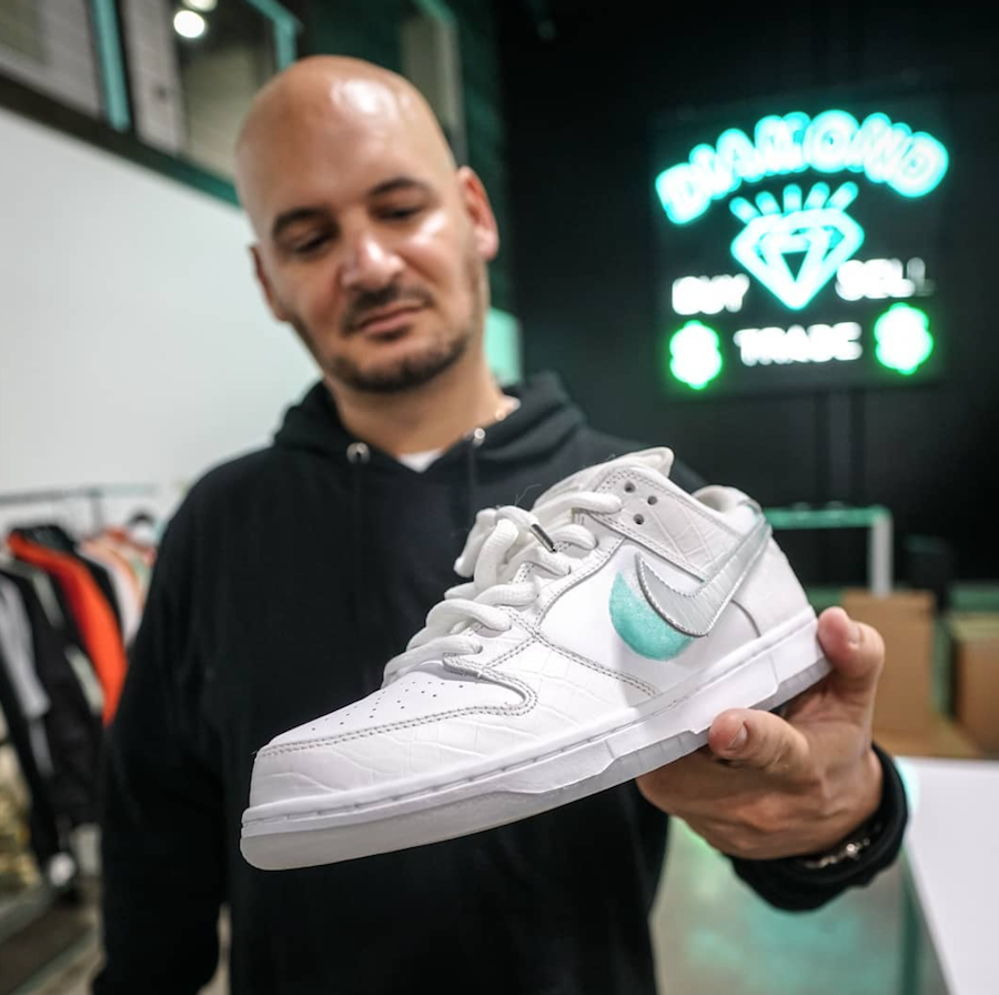 Diamond Supply Co Nike SB Dunk Low Tiffany 2018 White